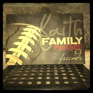 Faith Family Football Friends Wall Art